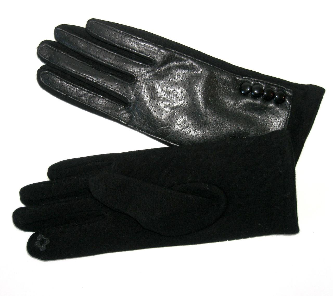 Перчатки женские сенсорные черные р. 6,5