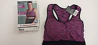 женский спортивный бюстье,топ лиф фиолетовый  80 СД CRIVIT®