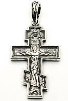 Серебряный крест с Распятием Архангел Михаил. Православный Крест.