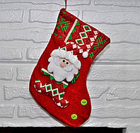 "Новогодний сапожок упаковка для подарков ""Дед Мороз"", 20 см"