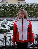 Bogner лыжная женская куртка № 69903, белый с красным
