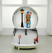 Снежный шар c автоснегом и подсветкой Влюбленные №1, фото 3