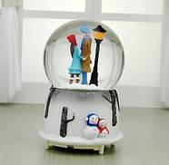 Снежный шар c автоснегом и подсветкой Влюбленные №1, фото 2