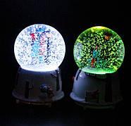 Снежный шар c автоснегом и подсветкой Влюбленные №1, фото 4