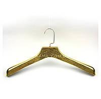 Вешалки плечики тремпель шубная пластмассовая 45 см золото