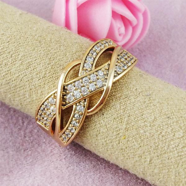 Кольцо Xuping Jewelry размер 19,5 Мира медицинское золото позолота 18К А/В 2-0337