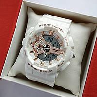 Водонепроникні жіночі спортивні наручний годинник білого кольору Skmei 1688 - код 1832, фото 1