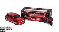 Детская игрушечная машинка джип на радиоуправлении на батарейках с пультом Racing Красный