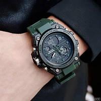 Противоударные мужские часы с двойным циферблатом Sanda 739