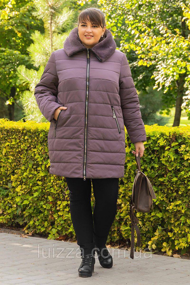 Жіночий зимовий пуховик з водонепронецаемой плащової тканини 42-48р
