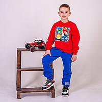 Свитшот детский утепленный р.98,104.122 SmileTime M&M, красный