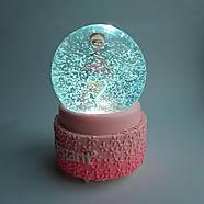 Снежный шар c автоснегом и подсветкой Elegant ballerina №2, фото 3