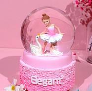 Снежный шар c автоснегом и подсветкой Elegant ballerina №2, фото 4
