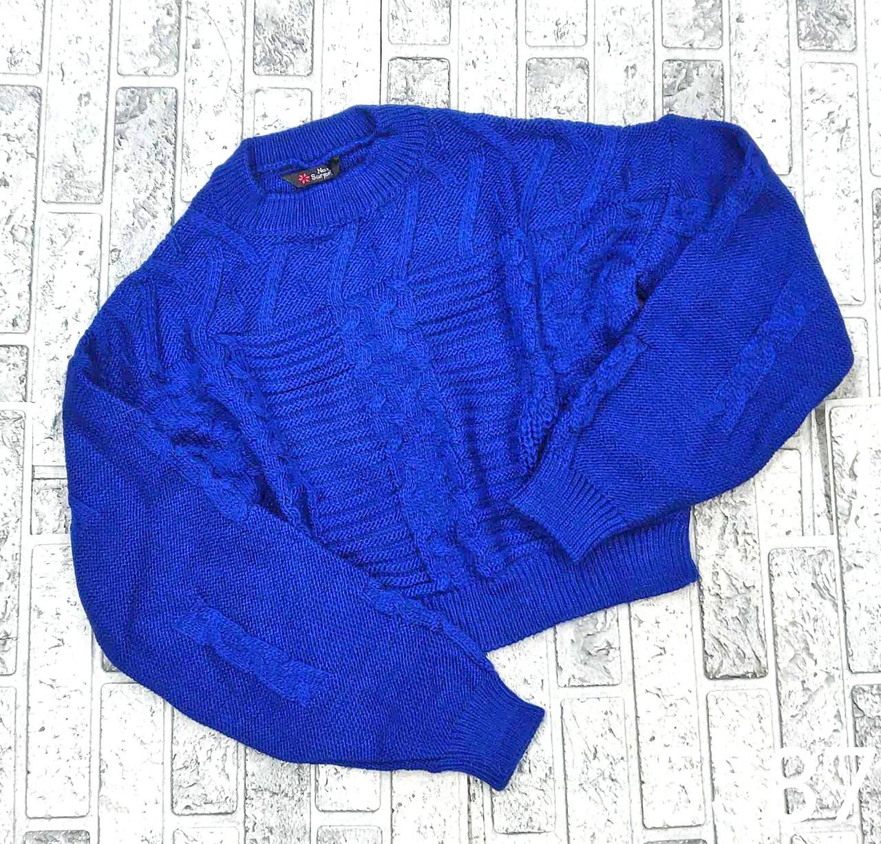 Красивый теплый свитер вязаный 42-46 (в расцветках)