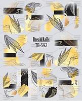 Слайдер с рисунком микс с фольгой TB-592 - Фольга : Золото