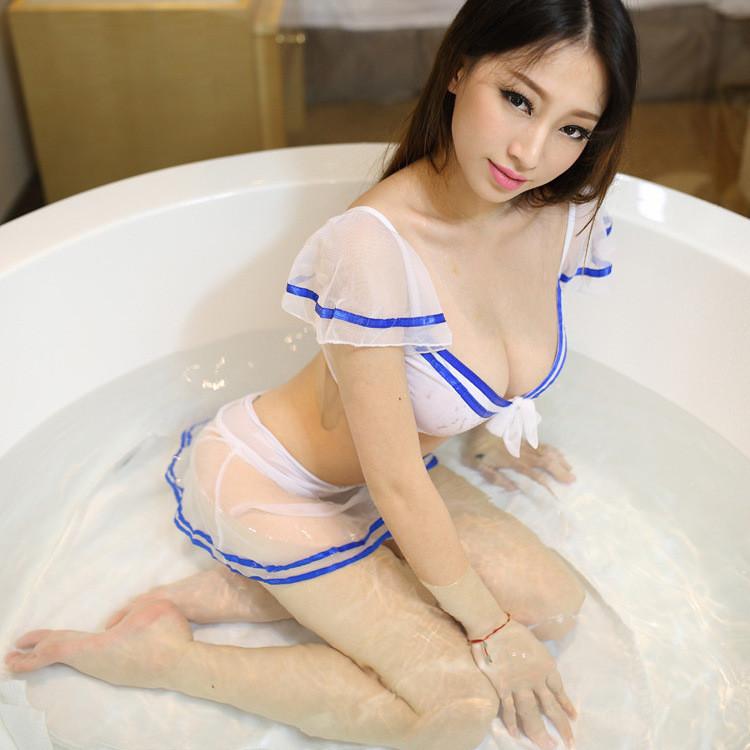 Эротический игровой костюм студентки Dear Lover 3211 Белый S/M/L