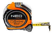 Рулетка NEO, стальная лента 5 м x 25 мм, магнит, двусторонняя печать