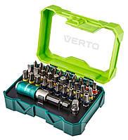 Набор насадок VERTO, 32 шт., 25 mm + держатель