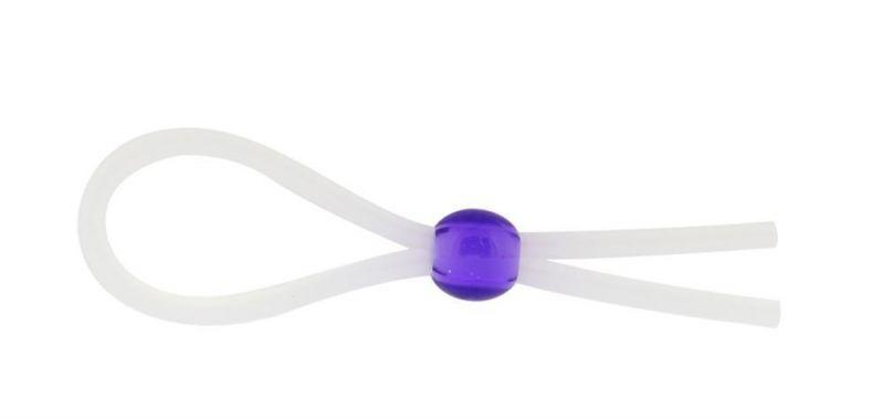 "Кольцо эрекционное 5"" Silicon Cock Ring with Bead, LAVENDER"