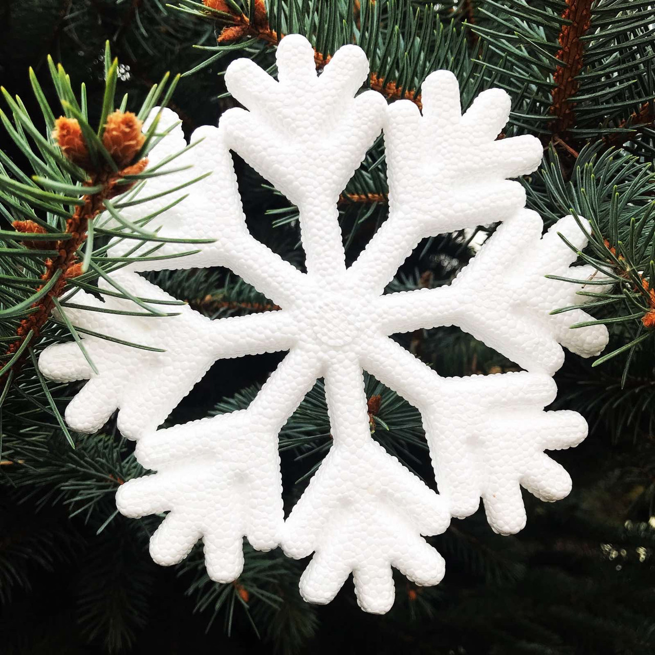 Пінопластова сніжинка  3D 24см