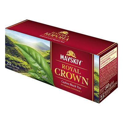 Травневий чай в пакетиках Царська Корона чорний 25*2 г