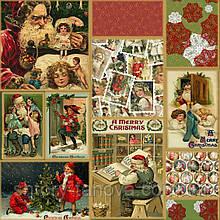 Декоративная новогодняя ткань с Рождественскими открытками для штор Испания