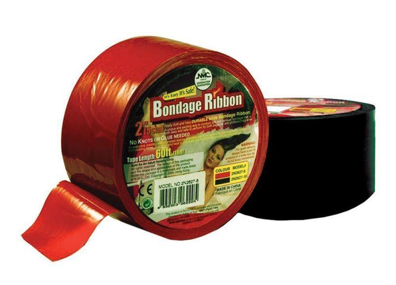 Лента для бондажа BONDAGE RIBBON 5CM/18MTR, BLACK