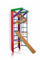 Детский спортивный комплекс с трапецией и горкой SportBaby Барби 3-220 Разноцветный (Барби 3-220)
