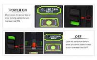 Лазерный уровень Нивелир Clubiona MD02G (зелёный лазер) КЕЙС + МАГНИТНЫЙ КРОНШТЕЙН + БАТАРЕЙКИ, фото 5