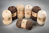 Пряжа шерстяная Vivchari Ethno-Natura 250, Color No.205 натуральный темно-коричневый, фото 2