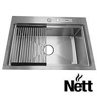 Мойки для кухни из нержавейки Nett | мойка кухонная из нержавейки | раковина накладная | кухонная мойка