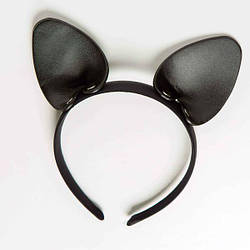 Ободок c ушками «Игривая Кошечка», Black