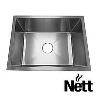Врізна мийка для кухні з нержавійки під стільницю Nett | накладна кухонна раковина