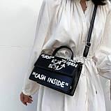 Женская классическая сумка CASH INSIDE черная, фото 2