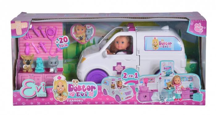 Кукла Доктор Эви Мобильная ветклиника , 42 аксес., 3+ Evi Love Doktor Evi 5733488