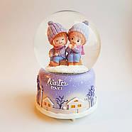 Снежный шар c автоснегом и подсветкой Winter lover №1, фото 3