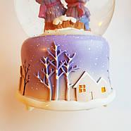 Снежный шар c автоснегом и подсветкой Winter lover №1, фото 8