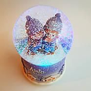 Снежный шар c автоснегом и подсветкой Winter lover №1, фото 7