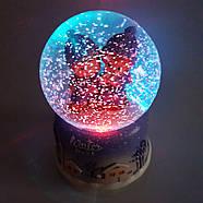 Снежный шар c автоснегом и подсветкой Winter lover №1, фото 2