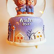 Снежный шар c автоснегом и подсветкой Winter lover №1, фото 10