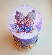 Снежный шар c автоснегом и подсветкой Winter lover №1, фото 5