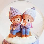 Снежный шар c автоснегом и подсветкой Winter lover №1, фото 4