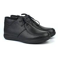 Великий розмір шкіряні зимові чоловічі черевики мокасини Rosso Avangard Basemokas BS чорні натуральні