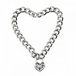 Ошейник из цепочки Heart, Silver