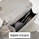 Женская классическая сумка CASH INSIDE белая, фото 6