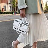 Женская классическая сумка CASH INSIDE белая, фото 2