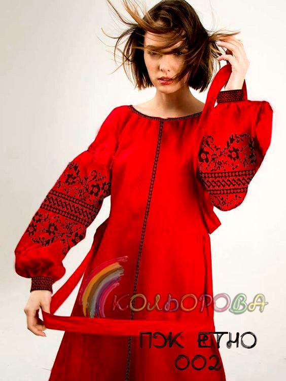 Заготовка жіночого плаття ПЖ-ЕТНО-002