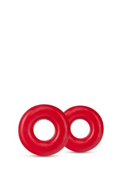 Набор эрекционных колец STAY HARD DONUT RINGS OVERSIZED RED
