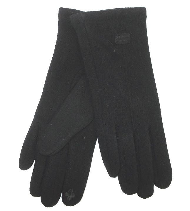 Перчатки трикотажные на флисе сенсорные темно-синие