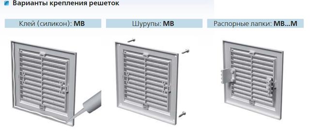 монтаж вентиляционной решетки Домовент, Вентс и Мини Макс
